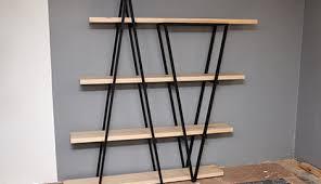 d i y industrial wooden bookshelf bunnings warehouse