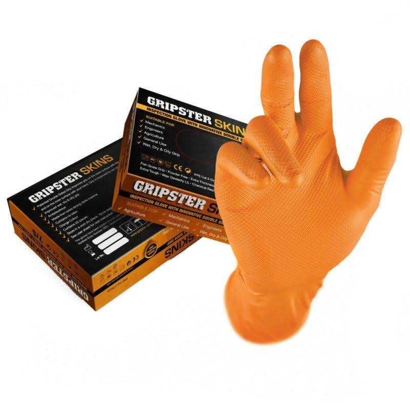 Gripster 5300-209 Skins Orange Fishscale Grip Glove Large