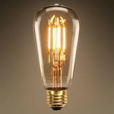 LED Edison Bulb 3 5W 40W Equal 2200K PLT VST C