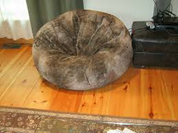 Giant Furry Bean Bag Chair From Restoration Hardware