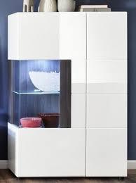 vitrine highboard hochglanz weiß und grau sardegna wohn esszimmer schrank tokyo
