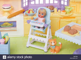 Young Child Doll In A High Chair In The Kitchen Stock Photo ... Pepperonz Set Of 8 New Born Baby Dolls Toy Assorted 5 Mini American Plastic Toys My Very Own Nursery Doll Crib Walmart Com You Me Wooden Highchair R Us Lex Got Vintage 1950s Amsco Metal Pink With Original High Chair Best Wallpaper Jonotoys Baby Doll High Chair 14 Cm Blue Internettoys Dressups Jeronimo For Sale In Johannesburg Id Handmade Primitive Wood 1940s Folk Art Preloved Stroller And Babies Kids Shop Jc Toys Online Dubai Abu Dhabi All Uae That Attaches To Table Home Decoration