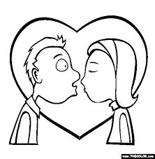 Valentines Day Online Coloring Pages