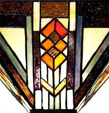 Tiffany Style Glass Torchiere Floor Lamp by Southwestern Mission Style Stained Glass Torchiere Floor Lamp