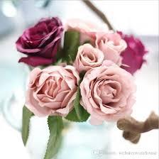 Fake Flower Wedding Bouquet 2 E Bounch Artificial Rose Flowers