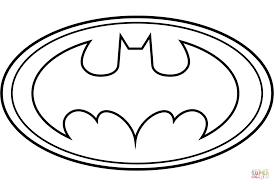 Bat Man Coloring Pages Batman Logo Page Free Printable Image