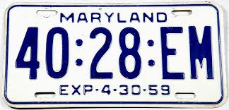 1959 Maryland Truck License Plate | Brandywine General Store