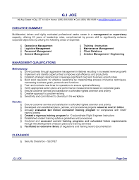 Resume Example Executive Summary With Management Qualifications For Examples Student By Gi Joe Of 9