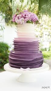 Best 25 Purple Wedding Cakes Ideas Pinterest Purple Cakes Within Incredible Ombre Wedding Cake Designs