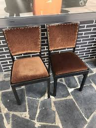 2 stühle vintage retro 60er 70 samt esszimmer shabby sofa stuhl