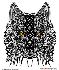 Celtic Wolf Wolves Head