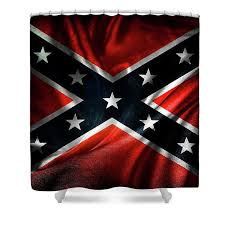 confederate flag shower curtain for sale by les cunliffe