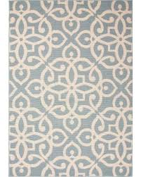 polypropylene patio mat 9 x 12 sweet deal on jaipur indoor outdoor damask pattern blue taupe