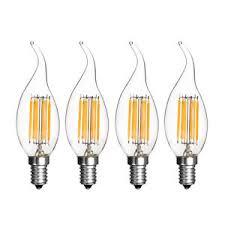 110v 220v cob led filament candle light bulb warm cool white e14