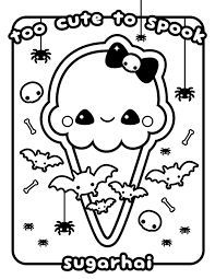 Cute Kawaii Food Coloring Pages 4 Q Ice