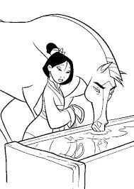 Mulan Watered Horses Coloring Pages