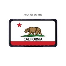 CA Bear Flag Hitch Cover Tow Receiver