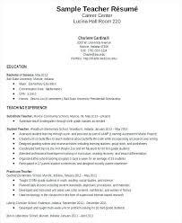 Education Sample Resume Elementary Teacher Sample Resume New