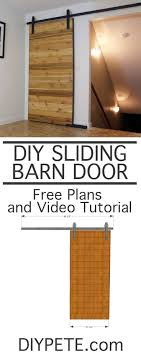 How To Make A Sliding Barn Door With DIY PETE. Free Plans, A ... Bar Sliding Barn Door Plans Best 25 Modern Barn Doors Ideas On Pinterest Sliding Design Designs Interior Ideasbarn Closet Building Space Saving And Creative Doors Dutch How To Build Page Learn About Remodelaholic Simple Diy Tutorial Front Overhang Ideas Tape Guide Cross Fake Garage Windows Diy Vinyl Free From Barntoolboxcom For The Farmhouse Small Hdware And