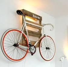 Bike Racks Wall Mounted Holder Made Of Wooden Pallet My Style