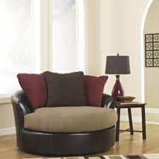 joyous casheral linen oversized swivel accent chair from