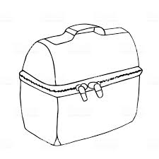 Lunch Bag Easy Illustration Box With Zipper Food Concept