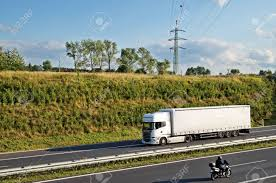 100 Horizon Trucking Corridor Highway With Truck And Motorcycle On The Trees