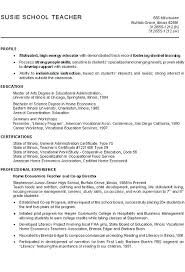 Sample Profiles For Resumes Resume Teachers Unique Profile Example Enchanting
