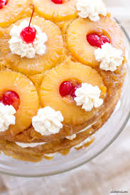 Triple Layer} Pineapple Upside Down Cake A Latte Food