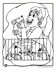 Pet Bunnies Coloring Page