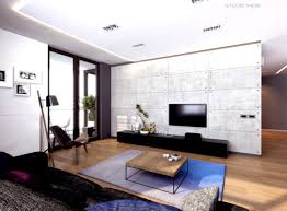Great Modern Apartment Living Room Design With Luxury Sofa Set