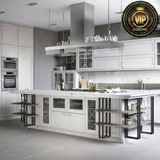 details zu freda moderne loft küche mit insel industrial design weiß meterpreis