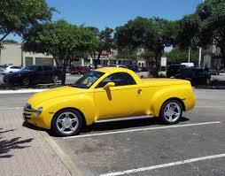 Chevrolet SSR - Yellow Convertible Two Door Pickup Truck | Flickr