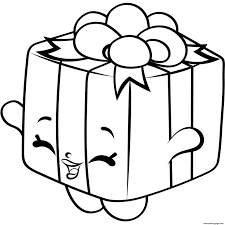 Print Gift Box Shopkins Season 4 Coloring Pages