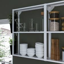 enhet küche weiß grau rahmen 163x63 5x222 cm