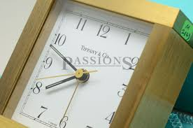 tiffany co table battery alarm clock in brass passions watch