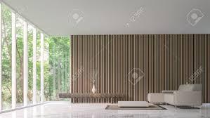 moderne ruhigen wohnzimmer im wald modern ruhigen wohnzimmer minimalistischen stil marmor weiß boden schmücken wand mit holzgitter basic einfache