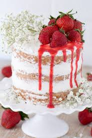 This strawberry cake is made with fresh pureed strawberries and is paired with homemade sweet