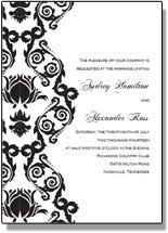 Printable Black And White Wedding Invitations