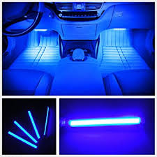 PANNIUZHE 4pcs Car Interior Decoration Atmosphere Light LED Lighting Kit Waterproof