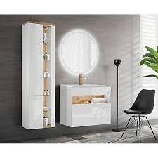 badezimmer hochschrank bermuda 56 in weiß hochglanz b h t x