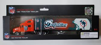 100 Truck Parts Miami Buy MIAMI DOLPHINS NFL DieCast Semi Peterbilt Tractor Trailer