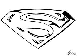 Superman Symbol Logo Coloring Page