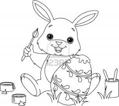 Cute Easter Bunny Coloring Pages 1
