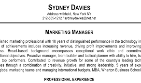 No Resume Sydney by Resume Stunning Marketing Resumes General Resume Summary
