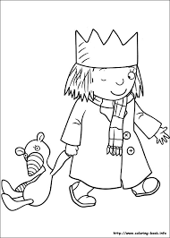 Little Princess Coloring Pages On Book