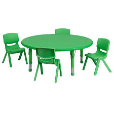 45'' Round Adjustable Green Plastic Activity Table Set With 4 School ... Flash Fniture 315inch Round Alinum Indoor Outdoor Table With 315 Square Red Metal Inoutdoor Set 4 Stack Chairs Duet Tables Global Group Lifetime 9piece Black Stackable Folding Set80439 The Home Cafe Restaurant Seat Stock Image Of Ding Kitchen Ikea Traing And Mktrcc7224pl44be Foldingchairs4lesscom T42rdb1922slmh2300p03 Bizchaircom Amazoncom Kee 42 Breakroom Mahogany M Rattan 3 Classic Teak Garden Eight Oval Stacks Store