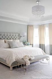 Grey Light gray walls and Gray bedroom