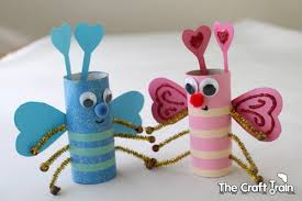 Toilet Roll Love Bugs For Valentines Day