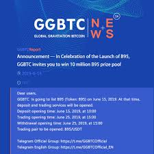 100 B95.com Announcement In Celebration Of The Launch Of B95 GGBTC